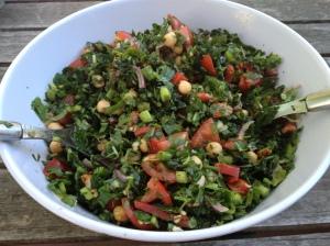 Chickpea Kale Tabouli Salad