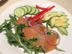 Slamon gravalax salad