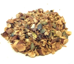 Paleo friendly, gluten free, grain free muesli.