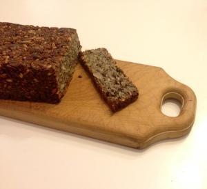 Quinoa almond flaxseed bread