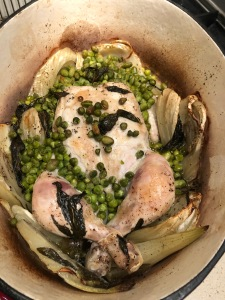 chicken with fennel & minted peas